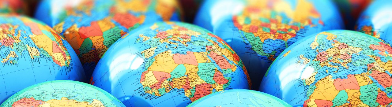 Image of small world globes